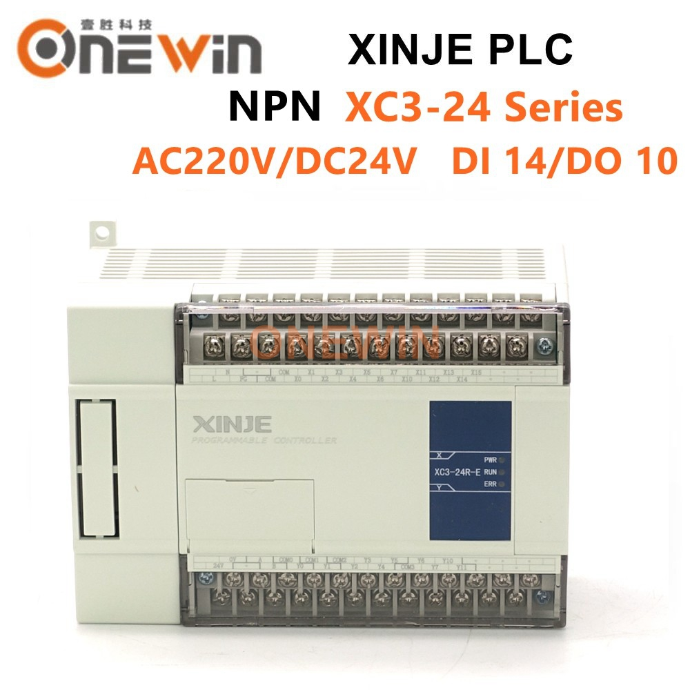 XINJE XC3 Series XINJE XC3-24R/T/RT-E/C PLC CONTROLLER MODULE AC220V DI 14 DO 10 Transistor New In Box