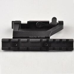 Base de montaje para Mira de liberación rápida, riel táctico de 20mm, Compatible con Rifle AK 74U