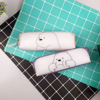 1pcs Bear Pen Case High Capacity  Pencil Student Cute Korean Bag Novelty Stationery Pouch Kawaii School Supplies
