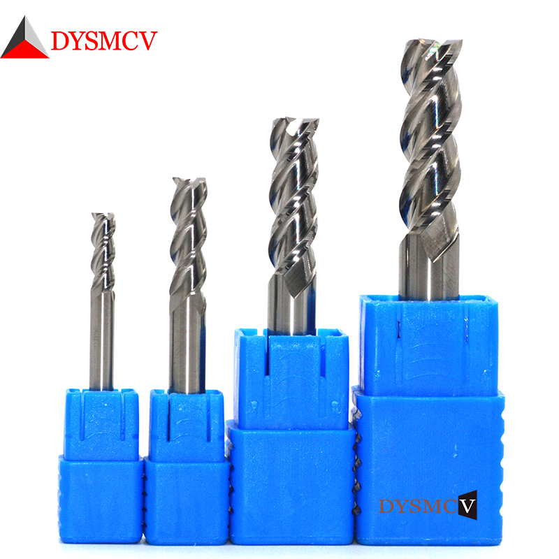 Milling Cutter Alloy Coating Tungsten Steel Tool By Aluminum Cnc Maching 3 Blade Endmills Top Milling Cutter Wood Milling Cutter