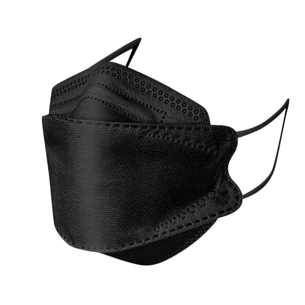 Черная маска для ухода за кожей для взрослых, в форме рыбы, нетканые хлопковые маски для лица mascarilla negra 5/10/20/30/40/50/100 шт., маска для лица унисекс