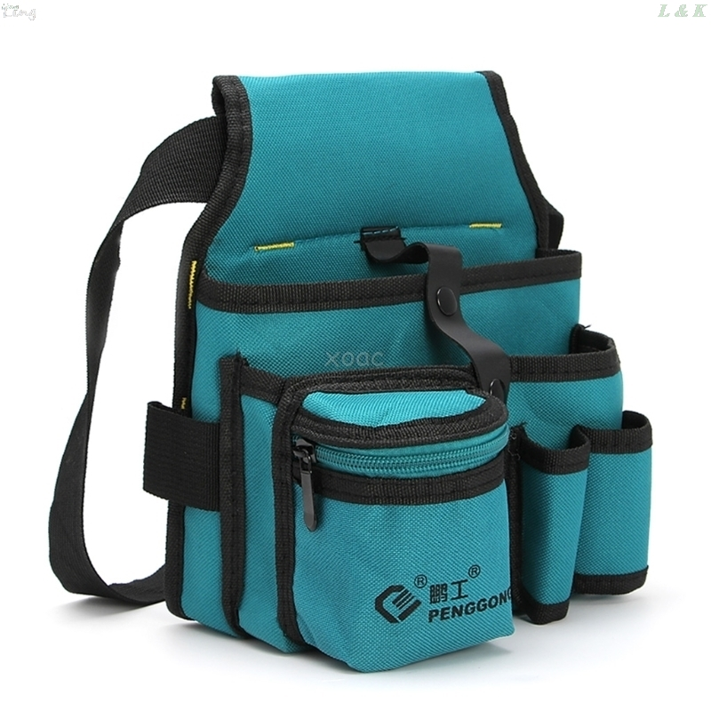1Pc Blue 24x20cm Storage Tools Bag Oxford Cloth Multifunctional Waterproof With Strap A25 Dropshipping