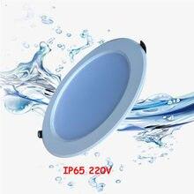 Ponto à prova ddimmable água led downlight ip65 pode ser escurecido 220v 5w 7 9 12 15 frio quente branco natural cct cozinha banheiro lâmpada