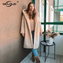Trendy 2020 Winter Hooded Teddy Jas Jas Vrouwen Plus Size Oversized Losse Faux Fur Jassen Dikke Warme Lange Overjas Bont jassen
