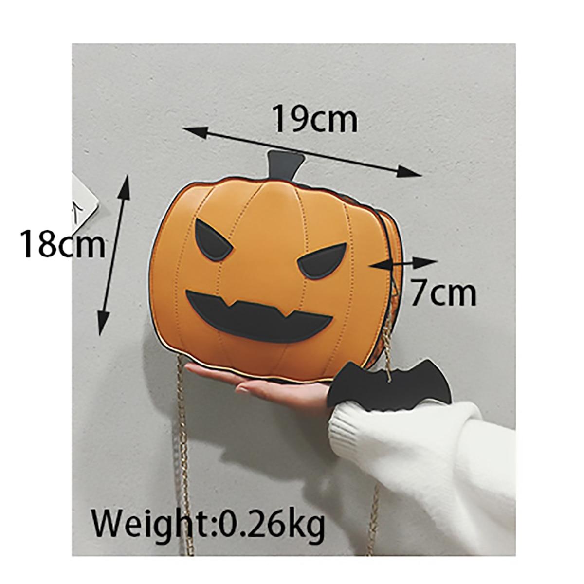 Shoulder Bag Pumpkin Bag For Women Pu Leather Creativity Easter Halloween Lamp Handbags New Designed  Cross Body Bags Gift 2