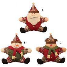 Милая Подушка с рисунком Санта Клауса, снеговика, оленя, плюшевая теплая подушка для домашнего автокресла, рождественские подарки