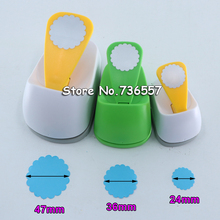 Wave Circle Square Triangle Hexagon eva foam punch paper puncher scrapbooking cutter hole punch craft punch for DIY artwork