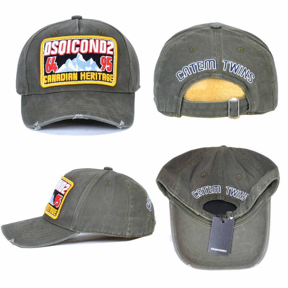 DSQICOND2 Marke Baumwolle DSQ2 buchstaben Casquette Hut Stickerei Schwarz Dad Hip Hop Baseball Cap Snapback Hut Kappe für Mann Frau hut