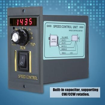 ac220v 50hz motor speed controller 100 x 60 x 110 mm adjustable for power tools AC 220V Motor Speed Controller 50Hz 400W Digital Adjustable Stepless Plc Motor Speed Controller 0-1450rpm Speed Regulator