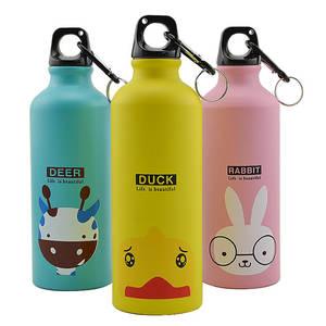 Bottle Water-Vacuum-Bottle Stainless-Steel 500ml Kids School Cycling Animal Sports Outdoor