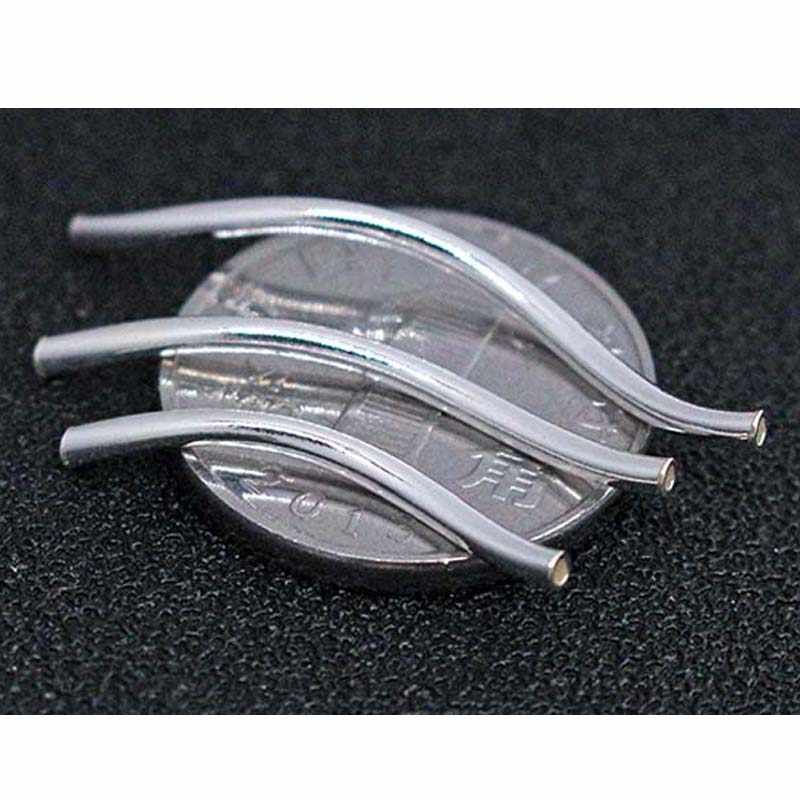 5pcs silver bar connector smooth square curve shape tube spacer sterling silver connector sterling curve connector