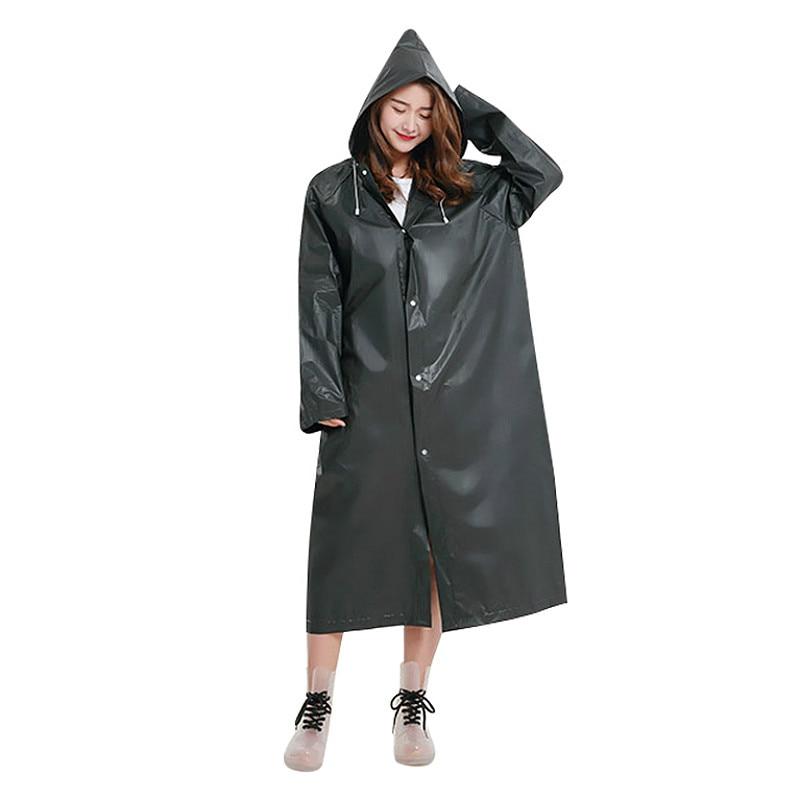 2019  New Fashion Eva Raincoat Waterproof Raincoat Transparent Camping Waterproof Raincoat for women