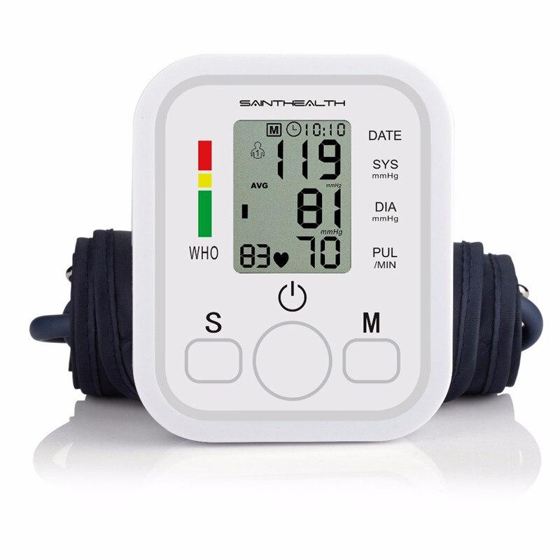 Image 3 - Saint Health Automatic Digital Arm Blood Pressure Monitor Heart Beat Rate Pulse Meter Tonometer Sphygmomanometers pulsometerBlood Pressure   -