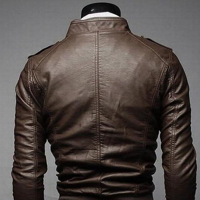 Men's Locomotive Coat  Jacket  Spring  Jacket Men 2020 Fashion  Leather Windbreaker Coats Motorcycle Leather 3