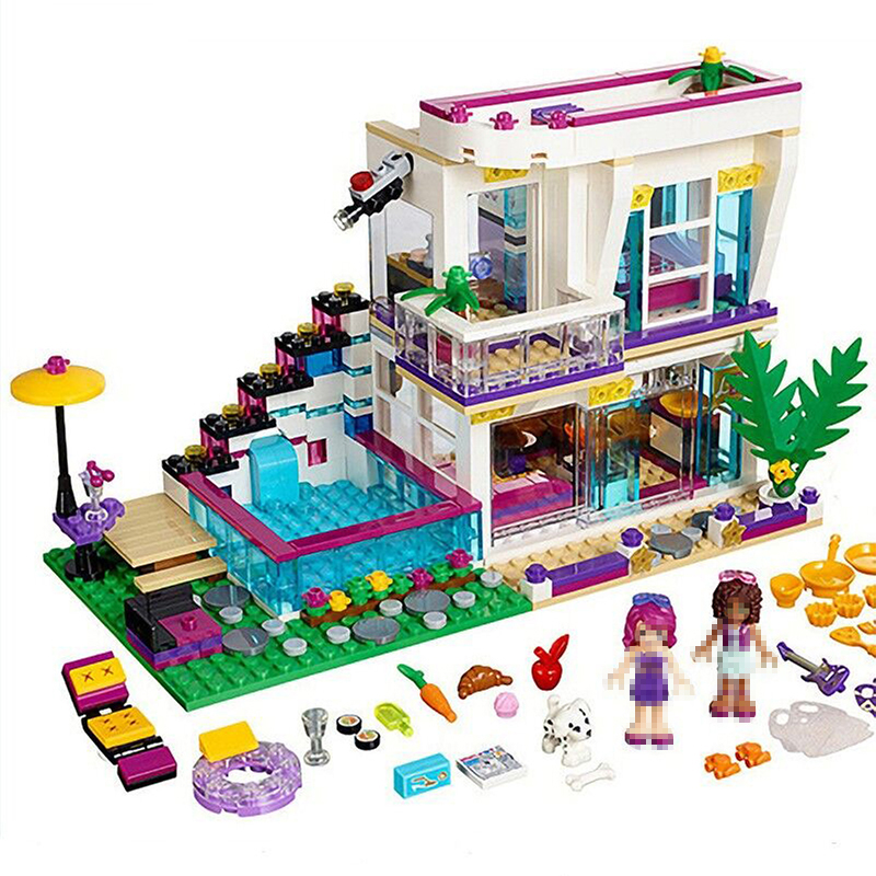 760 шт. звезды Ливи дом строительные блоки Модель Кирпичи игрушки для девочек, одежда для детей