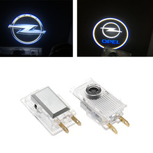 Car styling 1Pair LED Courtesy Lamp Car Door Welcome Lights 12V Projector Logo shadow lamp bulb For Opel Insignia Accessories