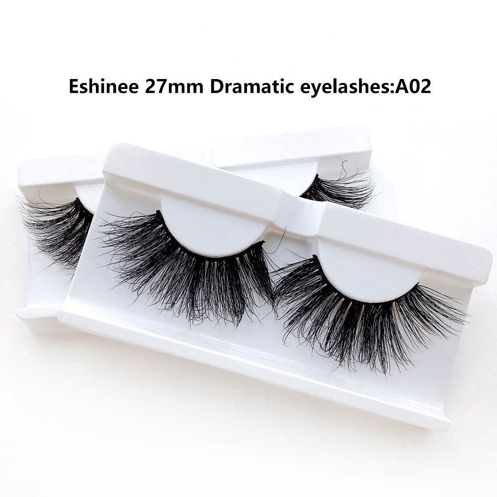 1 paar 27MM Lange Gefälschte Wimpern 5D Nerz Falsche Wimpern Dick Nerz Wimpern Make-Up-Party <font><b>A03</b></font> image