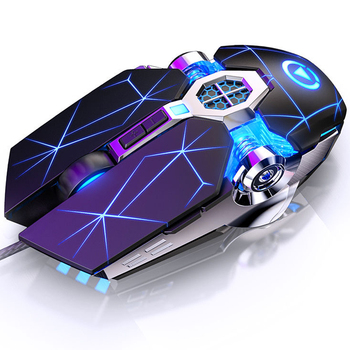 цена на Pro Gaming Mouse Mause 7 Button DPI Adjustable Computer Optical LED Game Mice USB Wired Games Cable Mouse for PC Laptop Gamer