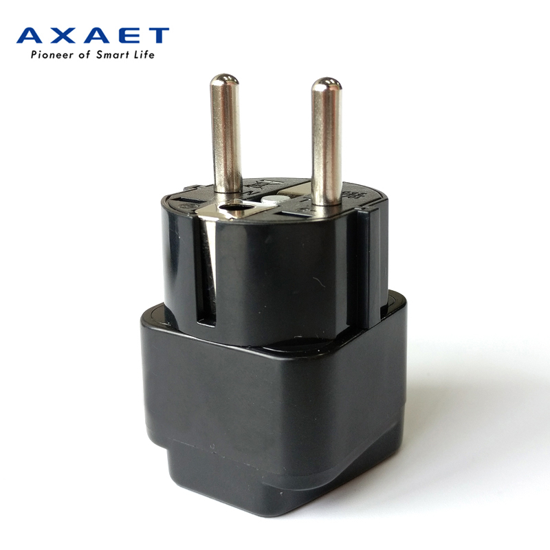 AXAET universal travel <font><b>EU</b></font> electric <font><b>plug</b></font> adapter US <font><b>CN</b></font> UK AU <font><b>plug</b></font> changer <font><b>to</b></font> <font><b>EU</b></font> extension socket multi outlet power Converter 1pc image