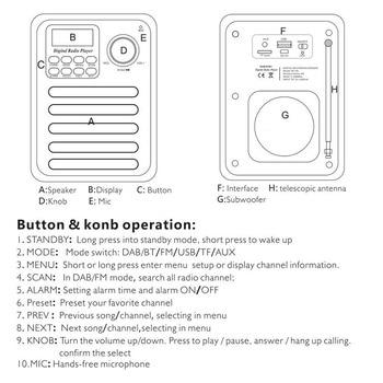 Wood Digital Bluetooth DAB/DAB+ FM Radio MP3 Player Wireless Speaker Stereo Radio AS99