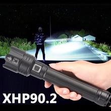XHP 90,2 Wiederaufladbare Leistungsstarke Xhp70 LED Taschenlampe Taktische Licht Lampe für Camping 18650 26650 Batterie Able Wasserdichte