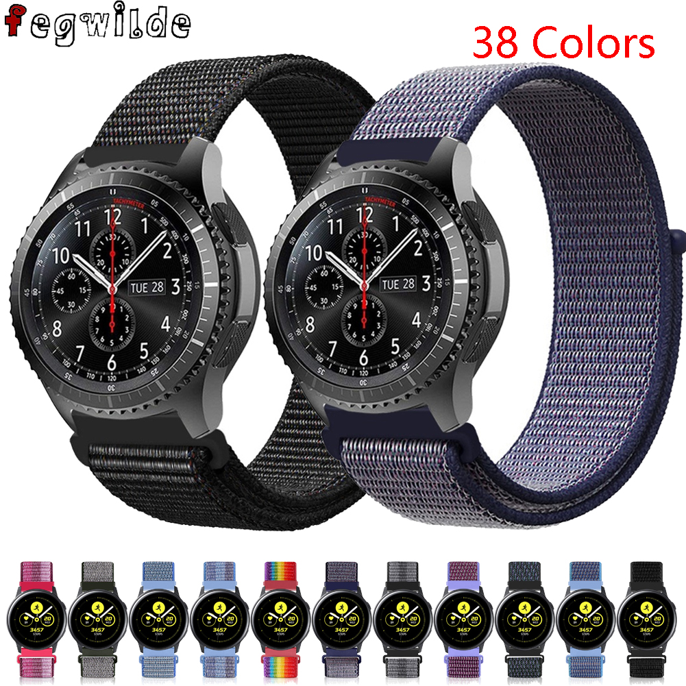 Strap For Samsung Gear S3 Frontier Amazfit Bip Huawei Watch Gt 2 Strap 20mm 22mm Watch Band Nylon Watchband  Galaxy Watch 46mm