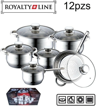 Batería De Cocina De 12pzs, accesorio para Cocina con sistema De inducción...