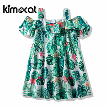 Kimocat Summer Sleeveless Bow Casual Clothing Kids Princess Dresses Costume Children Clothes Girls Princess Dress girl princess dress summer style children dresses for girls kids clothing gradient sleeveless fashion party clothes