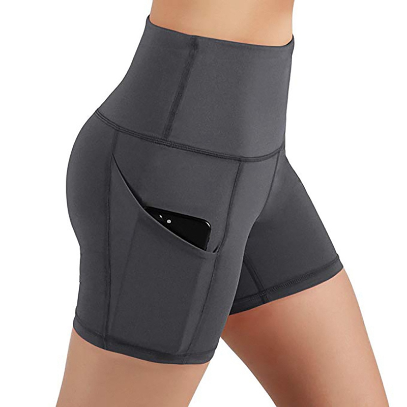 Yoga Shorts Women High Waist Butt Lifting Push Up Tight Shorts Sports Tights Short Trousers For Running GMT601