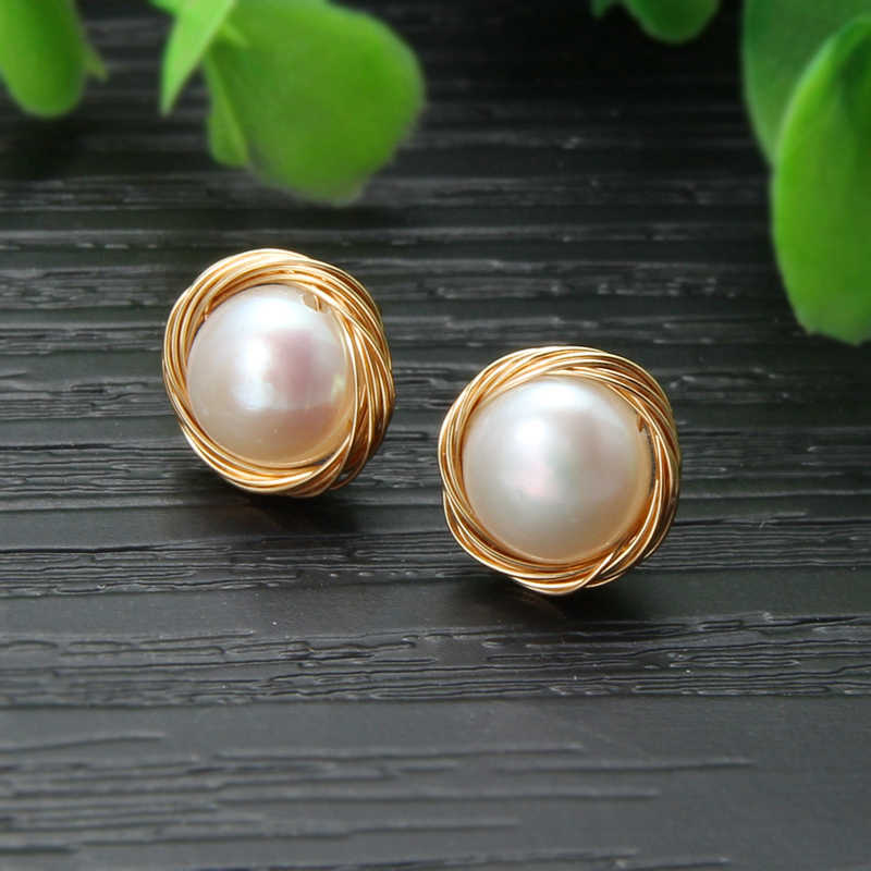 SEVEN GIRL Fashion handmade earrings Freshwater pearl earrings   for women  pearl earring Party wedding Fine jewelry