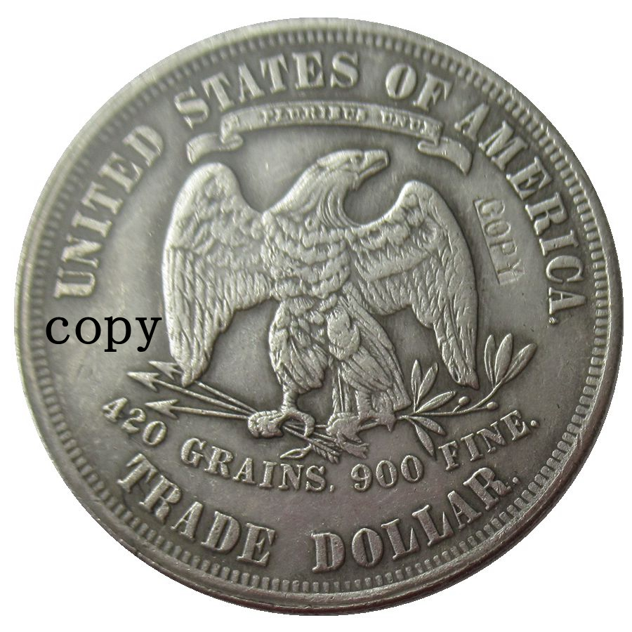 US Trade Dollars Whole Set Of 1873 1885 25PCS American Coins Silver Plated Non Magnetic REPLICA