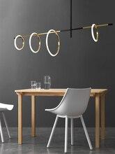 Modern oturma odası LED manyetik cazibe avize aydınlatma askılı restoran lambası akrilik yatak odası deco yüzük asılı ışıklar