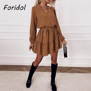 Casual Solid Sueded Dress Elegant Ruffle Short Dress Women Female Long Sleeve Dress Spring Vestido De Mujer Dress Winter ruffle armhole solid bodycon dress
