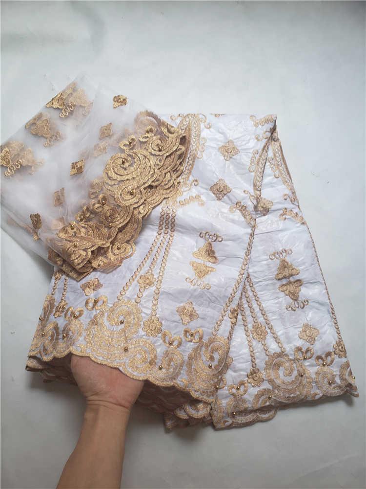 Prix de vente dernière bazin dentelle avec tulle dentelle pour écharpe tissu africain bazin riche pour les robes de soirée nigérianes Winn599k