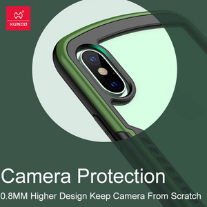 Image 4 - Shockproof Case For iPhone XR X XS Max Case Xundd Bumper Airbag Cover Transparent Protective Case Soft Back Cover Red Green
