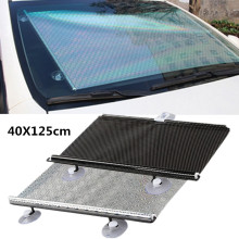 цена на Car Sunshade Curtain Rear Side Window Front/Back Windshield Sun Block Blinks Black Cover Suction Cup Universal Car Accessories