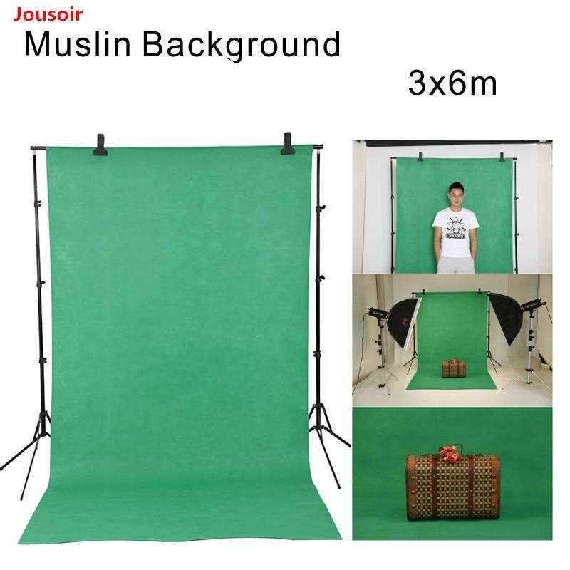 Falcon Eyes 3x6m(10x20ft) Studio Photo Background Muslin Green&Blue Backdrop Screen Cotton Chroma Key For Film Video CD50