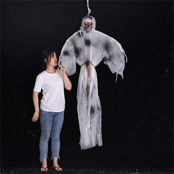 Halloween Props Bright Eyes Bar Club Horror Halloween Doll Decoration Electric Creepy Scary Halloween Ghost Grim Reaper Ghost