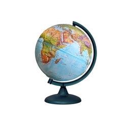 Globe double carte en relief d'un diamètre de 250mm, avec éclairage