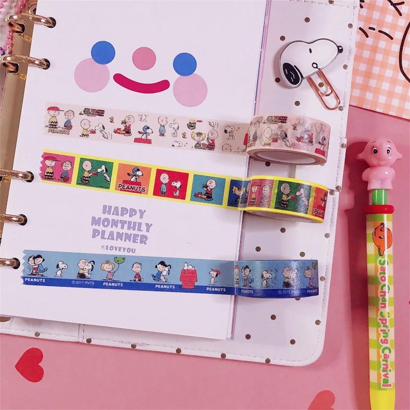 1 Pc Cute Washi Tape Japan Handbook Diy Decorative Tapes Kawaii Cartoon Seal Sticker Student Stationery Children Gifts