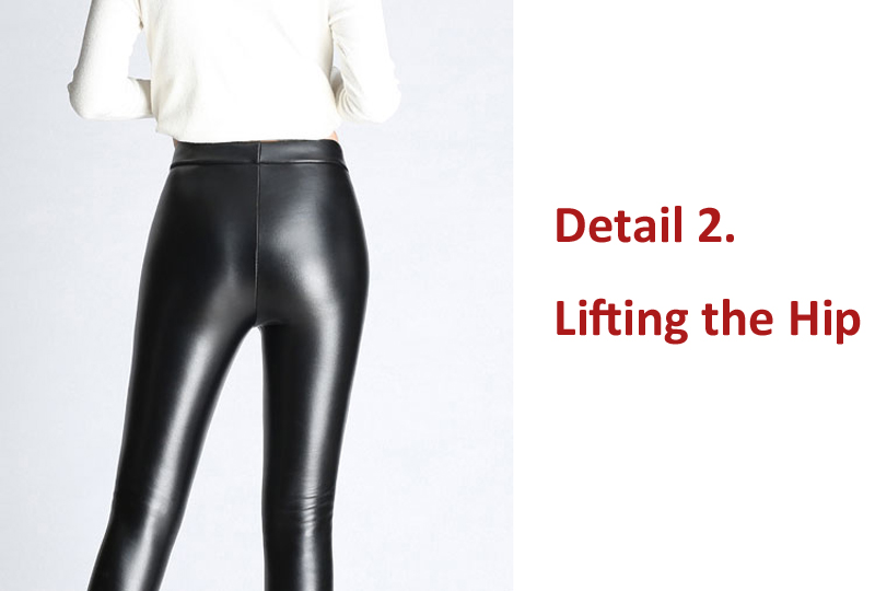 BGTEEVER Spring Autumn Winter Soft PU Leather Pant Women Velvet Pants Warm Stretch Skinny Trousers Pencil Leather Leggings 25