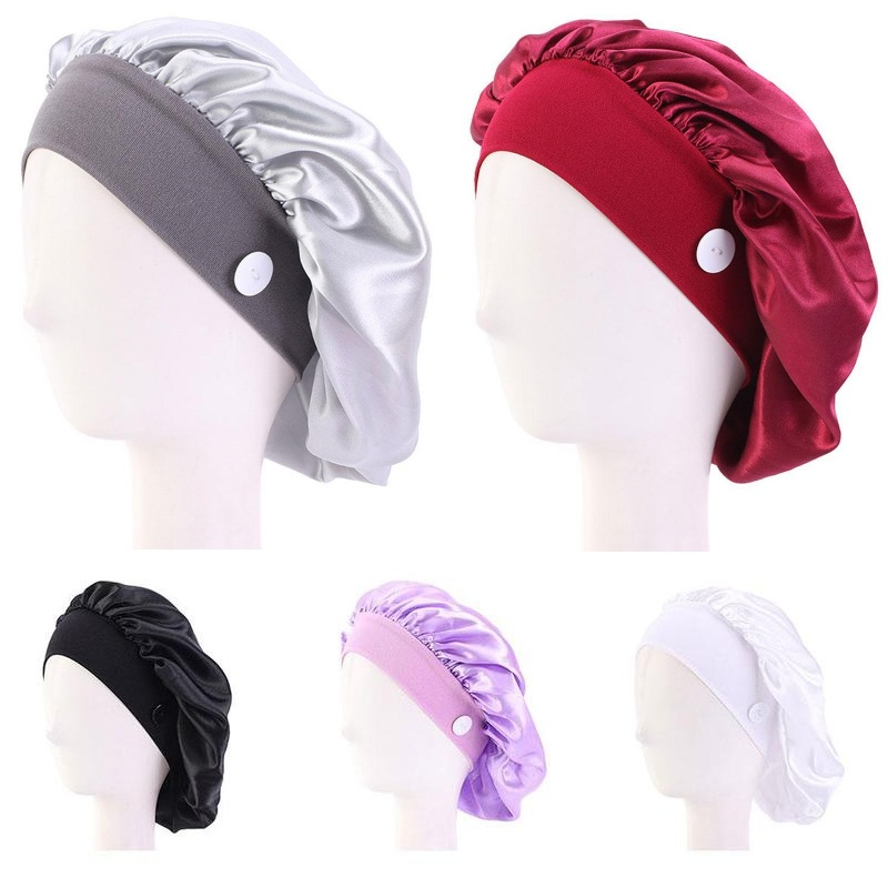 Women Cotton Bandage Adjustable Scrub Cap Sweatband Bouffant Hat Men Gorros Quirofano Mujer Nurse Uniform Accessories