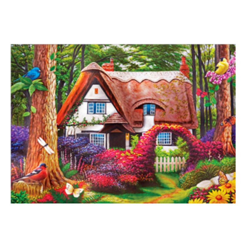HOT SALE Diy Full Round Rhinestone European Waterfront Cottage Home Decoration 5D Diamond Gift image