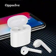 Oppselve i7s TWS Auricolare Bluetooth Stereo Auricolari Cuffie Senza Fili Con Scatola di Carico Mic Sport Auricolari Per Tutto Il Telefono Mobile