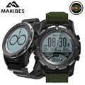 Makibes BR2 GPS boussole compteur de vitesse Sport montre Bluetooth randonnée multi-sport fitness tracker montre intelligente appareils portables