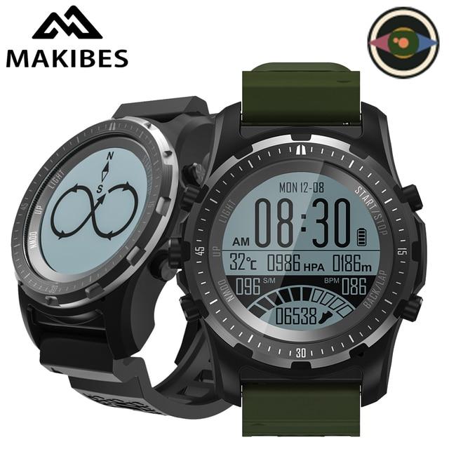Makibes BR2 GPS البوصلة عداد السرعة الرياضة ساعة بلوتوث التنزه متعدد جهاز مراقبة اللياقة الرياضية ساعة ذكية يمكن ارتداؤها الأجهزة
