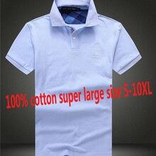 NEW Bust168CM 100% Cotton Mens POLO High Quality Summer Short Sleeve Super Large big Man Brand Shirts Plus Size S-9XL 10XL