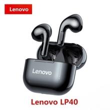 Lenovo auriculares inalámbricos LP40 TWS, originales, con Control táctil, Bluetooth, estéreo, para juegos, teléfono Android, novedad