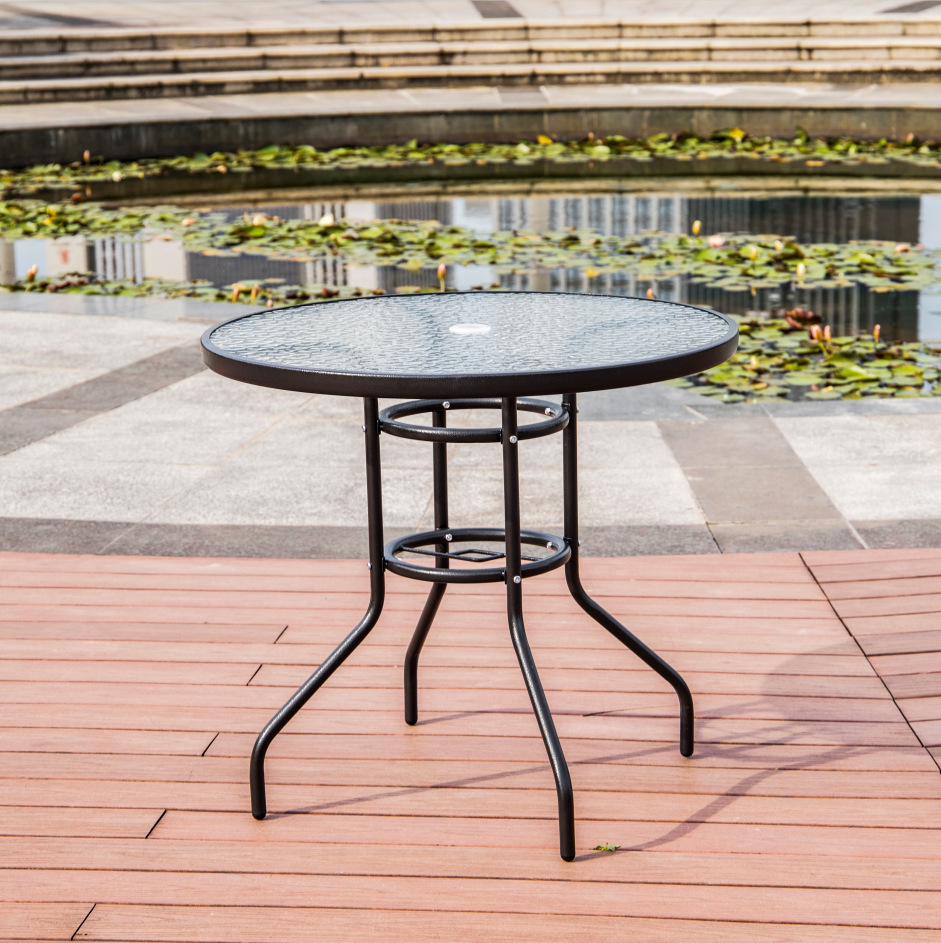 Modern Minimalist Iron Art Round Table Outdoor Casual Creative Iron Art Balcony Small Round Table Courtyard Cafe? 80*71