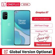 Küresel sürüm isteğe bağlı Oneplus 8T akıllı telefon 6.55 '''120Hz sıvı AMOLED Snapdragon 865 Octa çekirdek 65W çözgü şarj Android 11